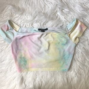 Forever 21 Pastel Super Crop Top Size Small